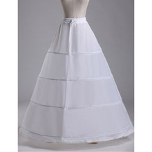 Abbille Wholesale 4 Hoops Bridal Wedding Petticoat Women White Skirt Crinoline Underskirt Wedding Accessories Matching Costumes