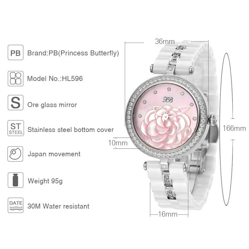 New Lady PB Top Marka Luxury Fashion Watch Kobiety OEM ceramiczne - Zegarki damskie - Zdjęcie 5