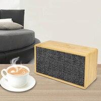 Goldbulous Bamboo Bluetooth Speaker 20W HiFi Super Bass Altavoz Home Theater Sound System With Touch Sensor