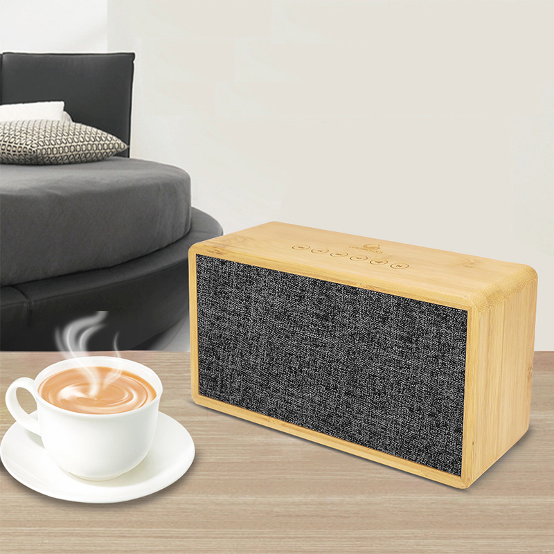 Goldbulous Bamboo Bluetooth Speaker 20W HiFi Super Bass Altavoz Home Theater Sound System with Touch Sensor Switch TF AUX Audio