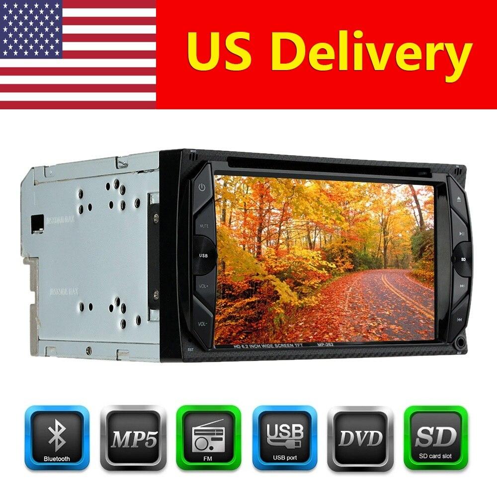 6.2 inch HD In Dash Car Automagnitola 2 Din Multimidia MP4/MP5 Radio DVD Player Touch Screen BT FM Autoradio Cassette Recorder