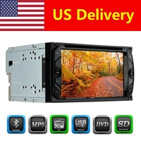 Universal 6.2 de polegada Automagnitola HD In Dash 2 Din Car Radio DVD Player Tela de Toque FM BT Autoradio Multimídia DVD MP3/MP4/MP5