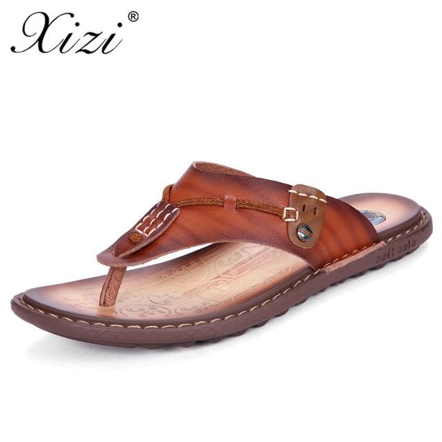 324d3e4b655cbb XIZI New Summer Men Designer Flip Flops shoe Men s Casual Microfiber Leather  Sandals Fashion Slippers Breathable Beach Shoes