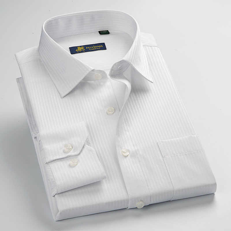 MACROSEA мужские полосатые официальные рубашки мужские деловые рубашки классического дизайна размера плюс с длинным рукавом не железные рубашки