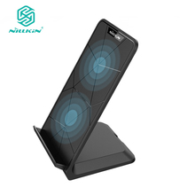 NILLKIN Fast Wireless Charger,Qi Fast Wireless Charging Pad Stand for iPhone X/8/8 Plus For Samsung Note 8/S8/S8 Plus/S7/S7 Edge