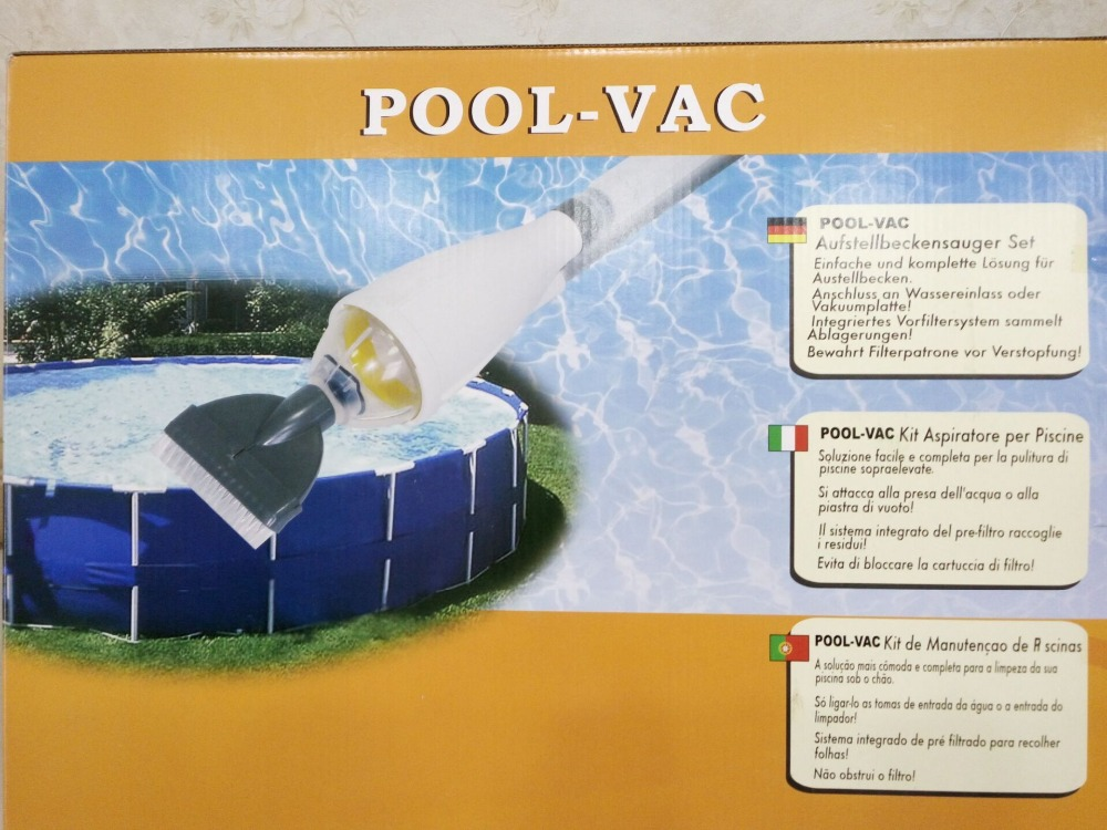 Vac above ground swimming pool vacuum for intex for Best rated inflatable swimming pool