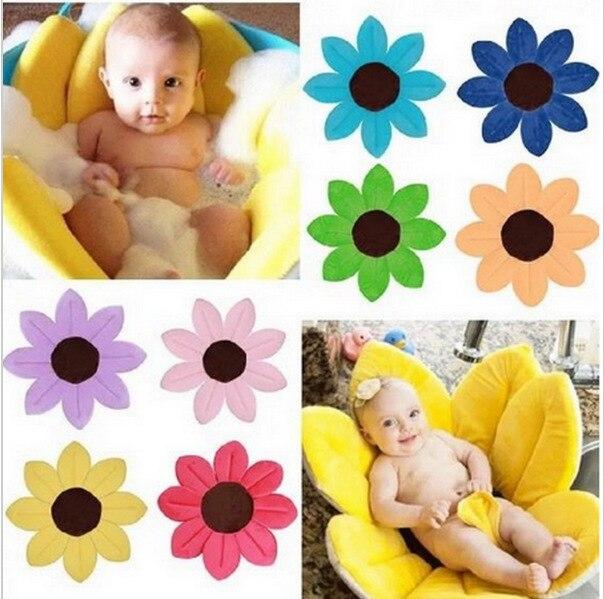 2018infant Baby Bath Flower Bathtub Baby Bath Fold Neonatal Petal Bathtubbaby bath tub 80CM