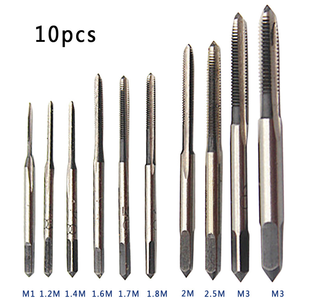 HSS 10pcs / set Mini Tap Thread Wire Tapping Threading Grinding Carving Tool M1 M1.2 M1.4 M1.6 M1.7 M1.8 M2 M 2.5 M 3 M3.5 M1-8  wire thread insert installation tool braces tapping nut wrench 468 101 216
