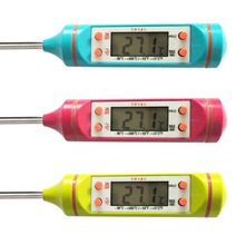 Цифровой ЖК-экран, термометр для приготовления пищи, мяса, зонд из нержавеющей стали, кухонная печь, барбекю, жидкость, принадлежности для приготовления пищи