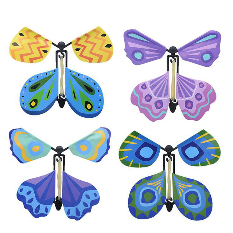 10Pcs/lot New jokes strange magic props childrens toys will fly the butterfly hand-changing gift toys