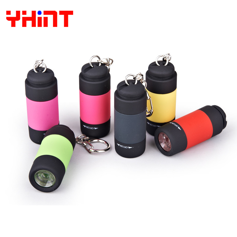 high power rechargeable led flashlight mini size with Rotary switch night hiking waterproof Torch Zoom Powerful light For travel