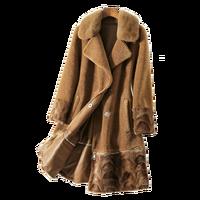 Autumn Winter Jacket Women Clothes 2018 Mink Fur Collar Wool Coat Natural Fur Korean Real Fur Coat Manteau Femme Hiver ZT1287