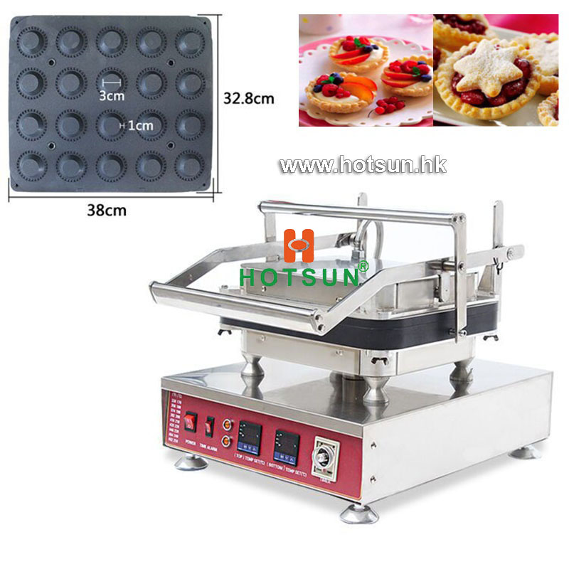Free Shipping Commrcial Non-stick 110V 220V Electric 20pcs Round Circle Egg Tart Maker Machine with Removable Plate free shipping professional non stick 110v 220v electric 12pcs round circle waffle cake maker machine with removable plate