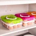 Clear Fresh Box 24 Grid Double-Layer Plastic Egg Box Basket Organizer Kitchen Storage Food Container Transparent Crisper