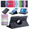 Для Случая Samsung Galaxy Tab 3 8.0 T311 T310,, T315 Смарт Стенд Tablet PU Кожаный Чехол Обложка 360 вращающийся Экран Протектор Стилус