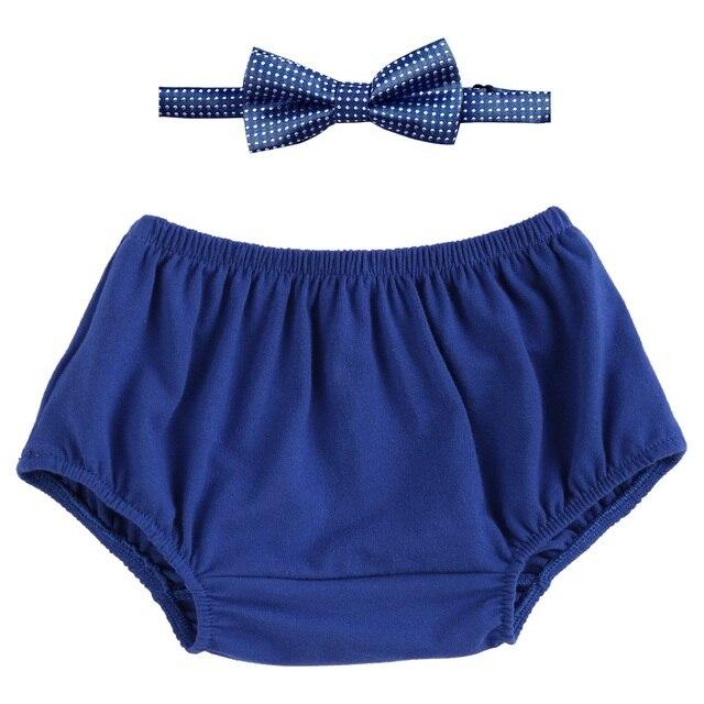 2 pcs Set Baby Boy Cô Gái Quần Áo Bánh Công Bất Ngờ Trang Phục Tã Bìa PP Quần Short Quần Bow Tie Sinh Nhật Đảng Ảnh chụp Em Bé Quần Áo