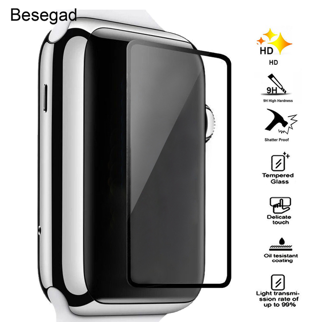128822093a2 Gosear Tempered Glass Screen Protector HD 9H Hardness Film for Apple Watch  iWatch i Wach iWach Series 1 2 II 38mm 42mm Accessory