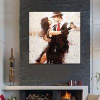 High Quality Free Shipping Hand painted Abstract India Dancer Oil Painting On Canvas Modern Living Room Wall Decor no Framed