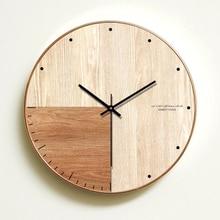 SAFEBET wall clock wood classic silent Wall Clock Modern Design Clocks For Home Decor Kitchen Watch digital Shabby Chic Art 4B29
