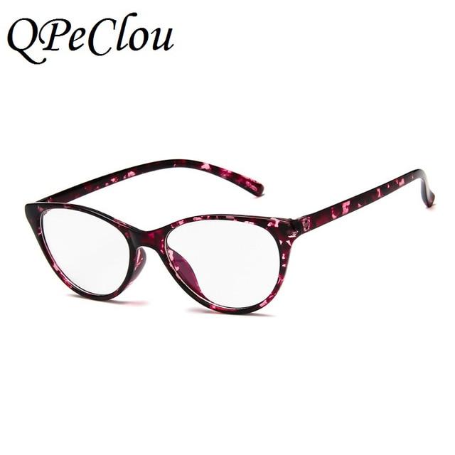 cafebe88c41 QPeClou 2017 New Sexy Cat Eye Glasses Frames Vintage Women Brand Optical No  Degree Eyeglasses frame
