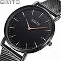 GIMTO Simple Business Weave Stainless Steel Watches Men 2017 Top Luxury Brand Quartz Men's Watch Male Waterproof Wristwatch Gift