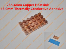 28*16mm Copper Heatsink+3.0mm Thermally Conductive Adhesive Copper MINI PCI-E Interface laptop Wireless Network Card HeatSink