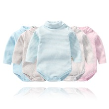 Autumn New Style Cartoon Baby Conjoined Striped The Parcel Buttocks INS Climbing Clothes For 6-36M Children