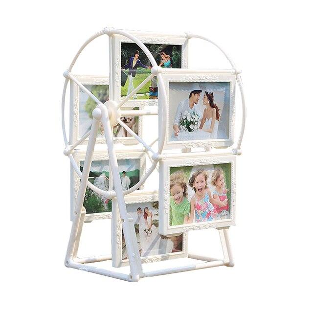 5 inch White Photo Frame Picture Frames Ferris Wheel Windmill Shape ...