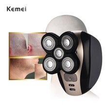 Kemei электробритва 5D плавающие головки моющиеся триммер для бороды бритва Многофункциональный машинка для стрижки волос Перезаряжаемые станок для бритья