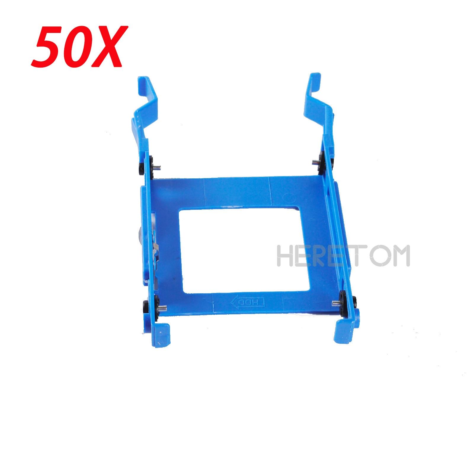 50PCS 2.5 HDD Bracket Caddy 3650 For Dell Optiplex 3040 5040 5050 7040 7050 3046 MT X9FV3 Free Shipping