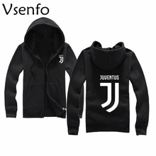 Vsenfo Hoodies Men Letter Print Juventus Sweatshirt Casual Sportwear Male Hip Hop Fleece Long Sleeve Hoodie Slim Fit Sweatshirt