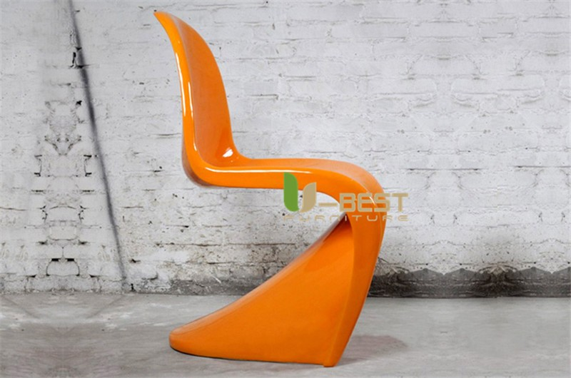 panton chair fiberglass dining chair1