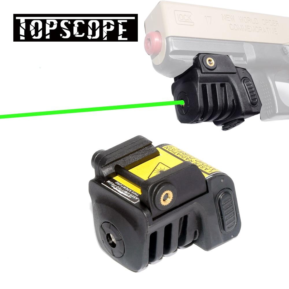 Micro Green Dot Pistol Laser Compact Tactical Green Laser Sight Scope For Most Handguns Fit 20mm Rail