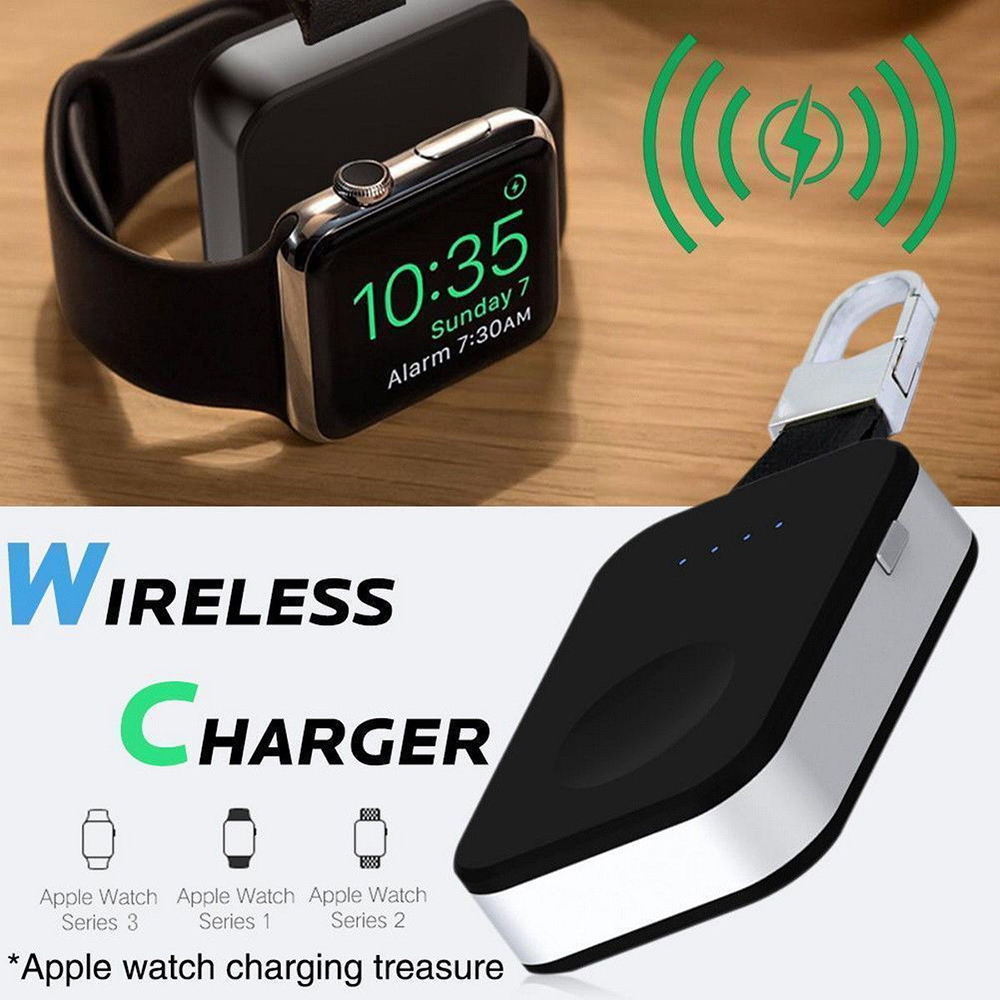New For Apple Watch Series 4/3/2/1 Portable Pocket Charger Charging Keychain Wireless Charger For Apple Watch Accessories Accessories & Parts Consumer Electronics