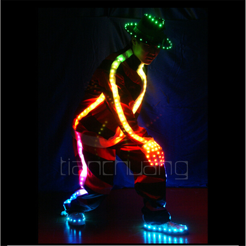 TC-17 couleur lampe LED couleur costumes fête porter salle de bal danse Michael MJ Programmable gants vêtements performance bar dj