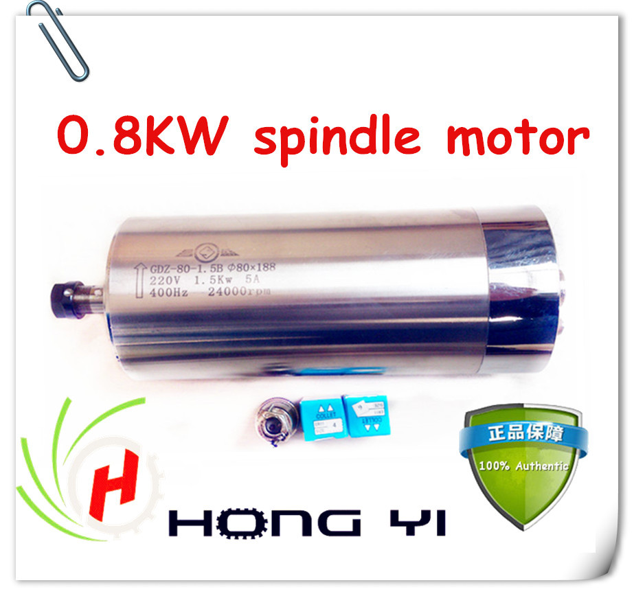 Shop Promotions 0.8KW ER11 Water-cooled spindle motor engraving milling grind a diameter of 65mm 1 5kw spindle motor water cooled 65mm er11 220v 1500w cnc spindle diameter of 80mm