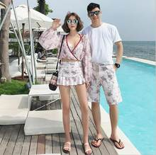 Couple Swimwear Board Shorts Women & Mens Boardshorts Bermuda Surf Swimming Shorts Swim Trunks Beach Sports Suit Quick Dry Short(China)