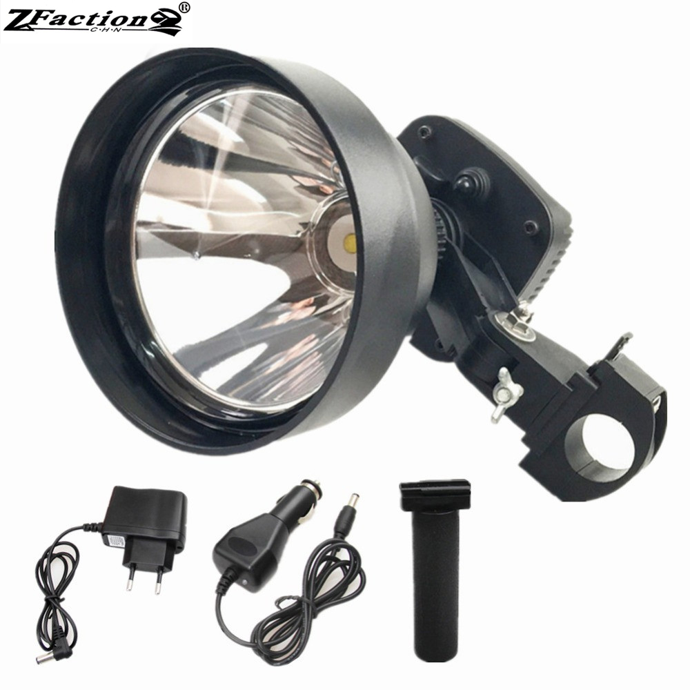 Rechargeable USA Imported Cree 25W LED Rifle Spotlight 150mm 2500LM Weapon Mounted Spotlight Hunting Portable Spotlight