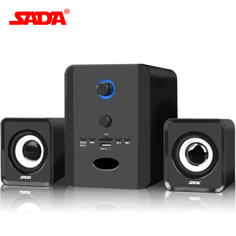 SADA Wired 2.1 Bluetooth combination speaker stereo suitable desktop notebook computer speaker PC Laptop TF/FM/U disk