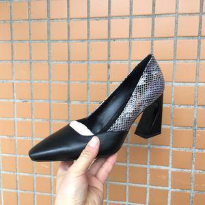 Image 5 - ALLBITEFO wysokiej jakości wąż tekstury naturalne prawdziwej skóry kobiet obcasy buty moda mieszane kolory dziewczyny buty na wysokim obcasie kobieta