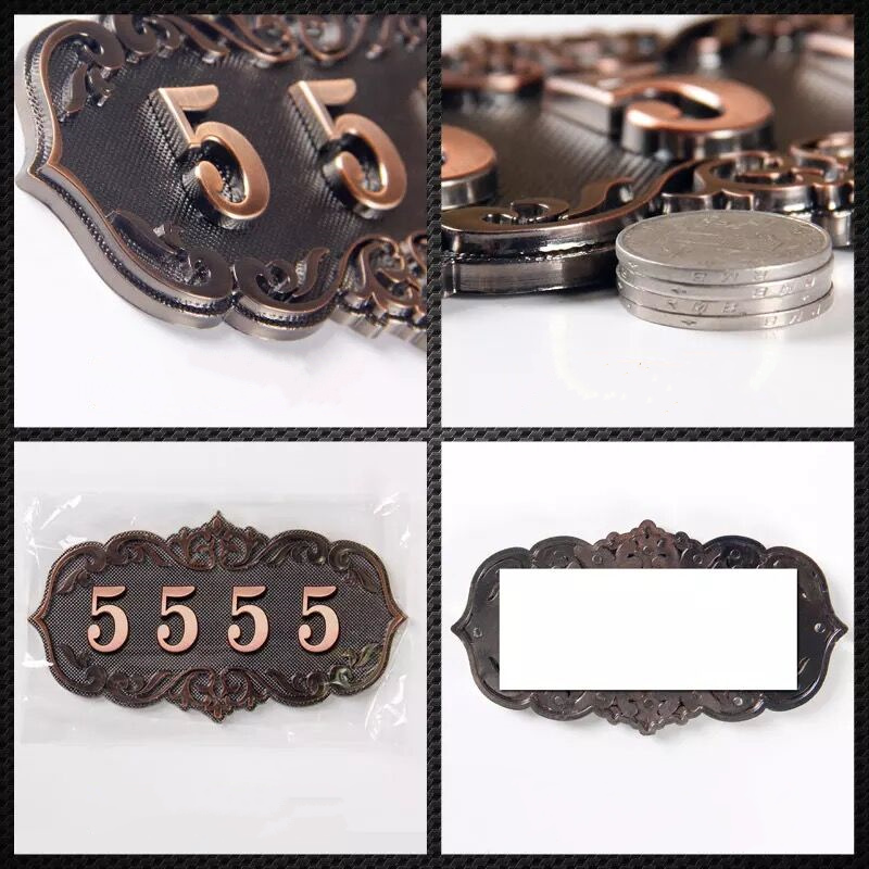 3 - 4 Digits  House Number; European style Door Sign; Gate Number;card Villa apartment ,Hotel number,New Arrival.3 - 4 Digits  House Number; European style Door Sign; Gate Number;card Villa apartment ,Hotel number,New Arrival.