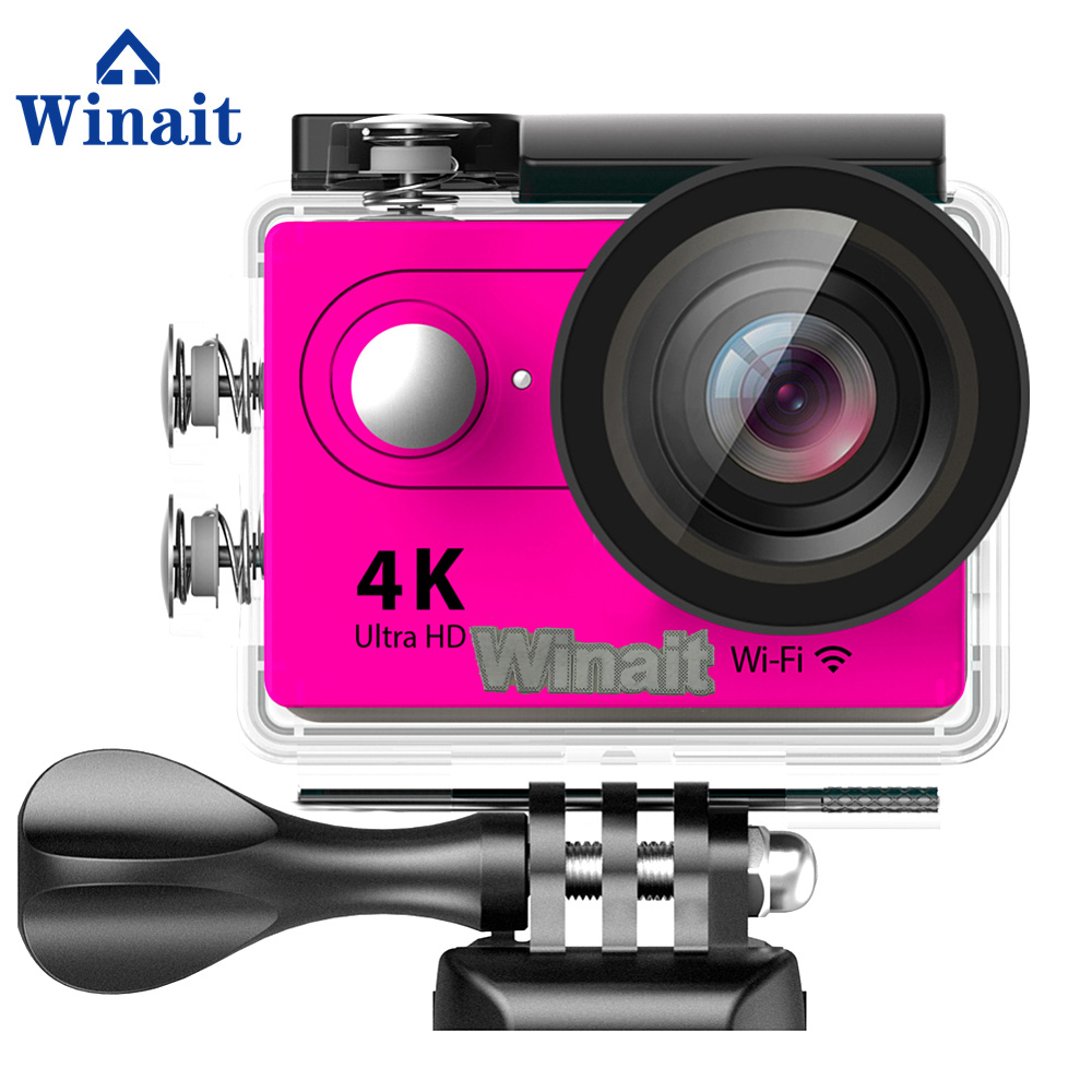 Winait 2017 hot sale H9R sports camera with 2.0 high defination display Anti splash wifi action