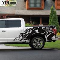 car decals 2pc pickup rear trunk tail box bed 4x4 off road mud vinyl car accessorises sticker custom for Ford F150 2016 2019