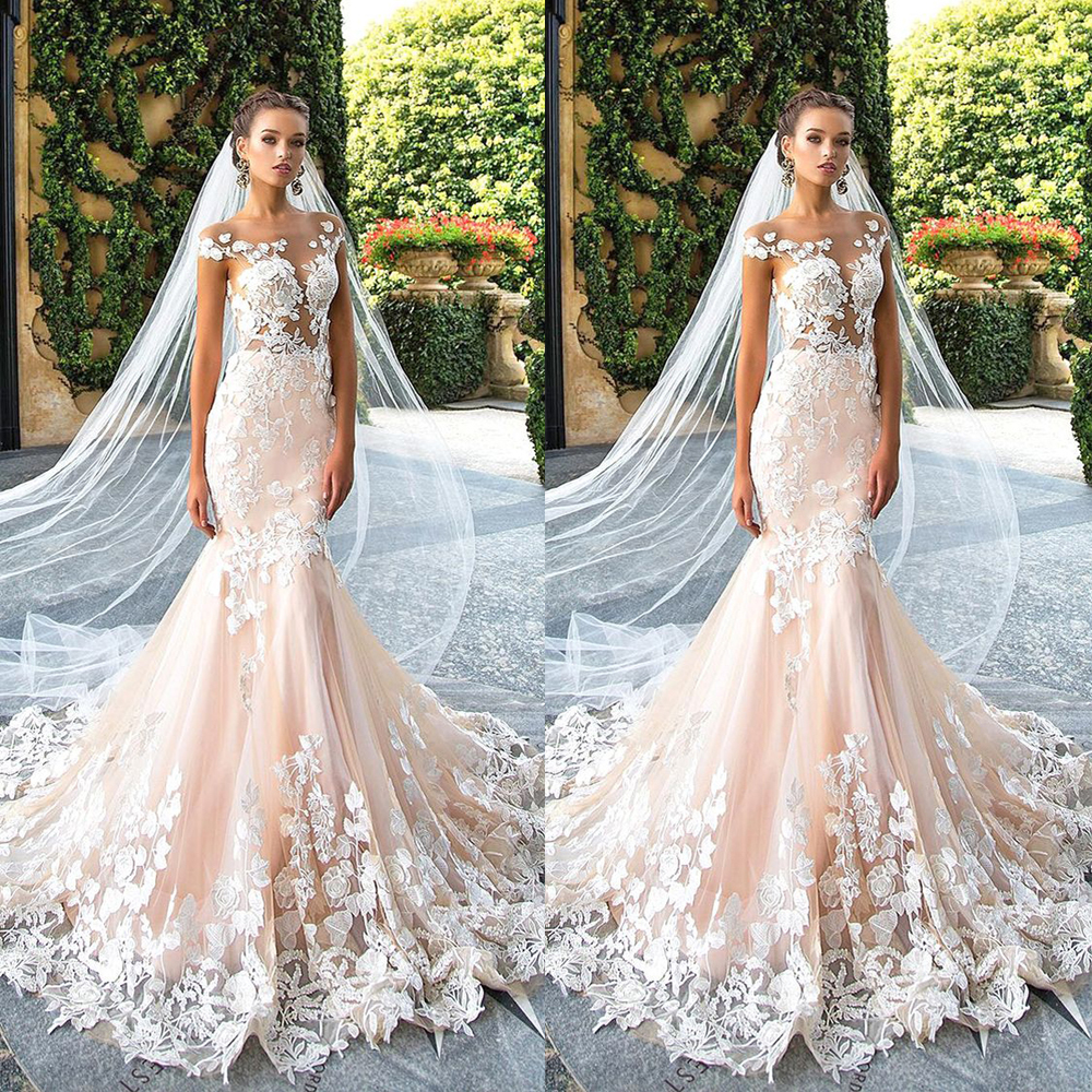 Fashion trend blush pink chic wedding dresses 2017 long for Average price of wedding dress 2017