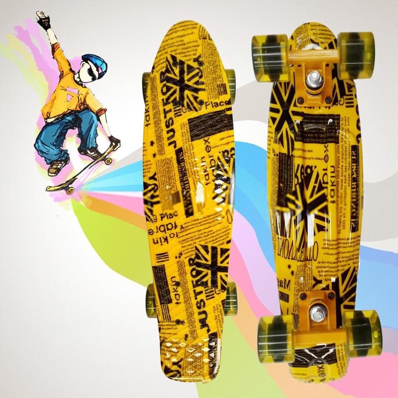 Planche a poisson planche peny imprimé mini planche a roulettes planche a roulettes trottinette planche a roulettes longboard camion patin freeline patins CL42