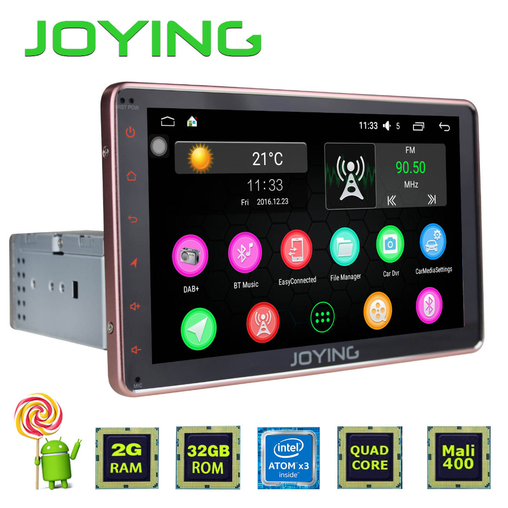 "JOYING 2GB+32GB Universal Android Single 1 DIN 8"" Car CD player Radio Stereo Head Unit Support GPS Navi Dual Zone Steering Wheel"