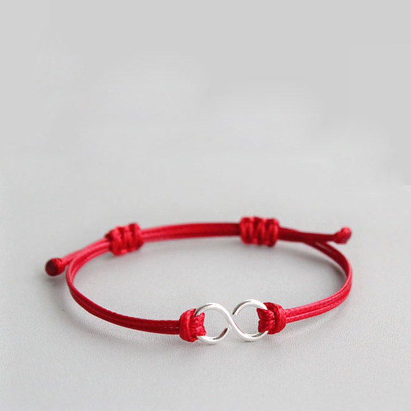 La MaxZa 925 Sterling Silver Eight Charm Classic Red Rope Bracelets Red Thread Line String Adjustable Bracelets For Women MenLa MaxZa 925 Sterling Silver Eight Charm Classic Red Rope Bracelets Red Thread Line String Adjustable Bracelets For Women Men