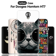 JURCHEN Phone Case For Homtom HT7 HT7 Pro 5.5 Case Cute Cartoon Paint Silicone Back Cover For Doogee Homtom HT7 Pro Case Cover