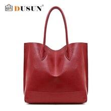 DUSUN 2018 New Casual Ladies Handbags Women Genuine Leather Large Totes Messenger Bag Hign Quality Designer