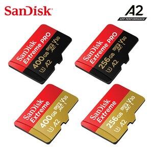 Карта памяти SanDisk Extreme/PRO UHS-I micro sd 400G 256G 128G 64G до 160 МБ/с./с, скорость чтения 10, V30, U3, A2, 2019